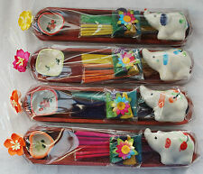 New Fair Trade Candle, Incense Cone & Holder Gift Set - Hippy Ethnic Elephant