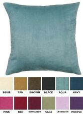 "Solid Faux Suede 26"" X 26"" Euro Pillow Cover Sham Available In 12 Great Colors"