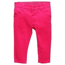Baby Girls New With Tags Raspberry Sorbet Stretch Jeans/Pants- Size 3-24 Mths