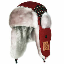 CITY HUNTER KIDS KW140 DOT PREMIUM WOOL WINTER EVERYDAY TRAPPER HAT (5 COLORS)