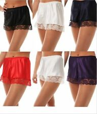 Luxury Satin French Knickers Briefs Deep Lace Decoration Silky Style Size 10-26