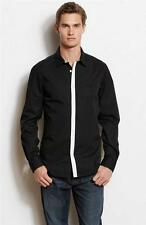 New Armani Exchange A|X Mens Slim/Muscle Fit Contrast Placket Button Front Shirt
