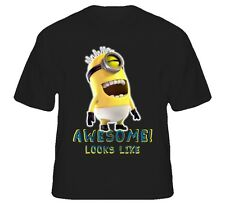 New Despicable Me 2 Awesome Minion Face Funny Standard Black T-Shirt
