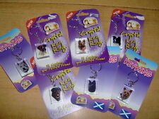 SELECTION OF CRYSTAL KEYRINGS - DOGS AND CATS