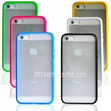 Matte Frosted TPU Frame Bumper Plastic Back Case Cover Skin for iPhone 5 5G 5S