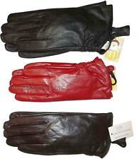 New Women's Brown, Black, Red leather Gloves.Unbranded Warm winter Gloves, BNWT*