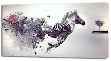 4 Sizes - Zebra Abstract Art CANVAS PRINT Home Wall Decor Art Giclee Picture
