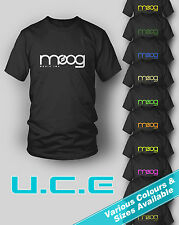 Moog T Shirt - Retro - Synthesizer ~ Electro - Various Sizes & Colours available