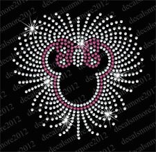 Minnie Mouse - CUTE - Bling Iron-on Rhinestone Transfer Decal