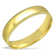 Men's SOLID 10K Yellow Gold Wedding Band Engagement Ring 4MM 6MM Anniversary