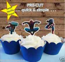 12x edible wafer Marvel Super Heroes Cupcake Cake Toppers Birthday pre-cut thor