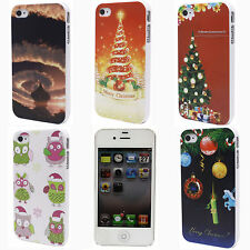 Color Christmas Tree Owl Cloud Mark Hard Back Case Cover Shell for iPhone 4 4S