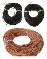 5/10/50 Meters Round 1.5mm Genuine Real Leather Cord For Jewelry Making
