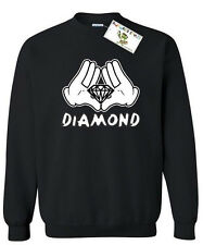 Cartoon Hands DIAMOND Crewneck Most Dope illuminati sweatshirt hip hop yolo