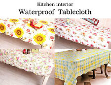Waterproof Tablecloth Assorted Patterns Romantic Flowers Kitchen Tablecloth