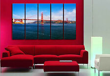 GOLDEN GATE BRIDGE ready to hang 5 MDFpanel wall art/BetterThan stretched canvas