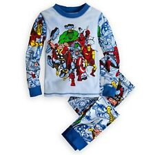 NWT Disney Store Marvel Superheroes PJ Pal Sleep Set NEW Spider-Man Iron Man