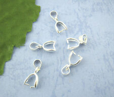 Wholesale Mixed Lots Silver Plated Pinch Clip Bail Beads Findings 7x17