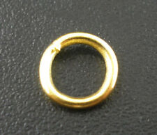 Wholesale Mixed Lots Gold Plated Open Jump Rings 6x1mm