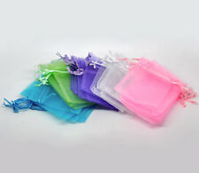 Wholesale Lots Mixed Organza Wedding Gift Bags&Pouches 7x9cm