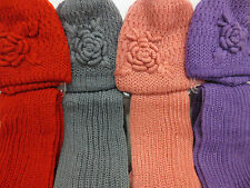 HAND MADE HAT & SCARF SETS  IN FOUR COLOURS 90755