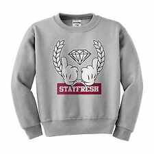 Stay Fresh Diamond Mickey hands minnieTGOD ovoxo ymcmb crewneck sweatshirt NEW