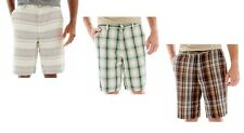St. John's Bay Linen Shorts plaid & striped men's sizes; 34, 42, 44 NEW