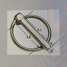 LINCH PIN - LYNCH D RETAINING PIN SPRING CLIP - UK Made - 14 SIZES BUY 3 To 100