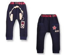 kid clothing music earphone cool pants trousers for 2-7 Year baby girl boy