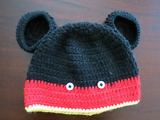 HANDMADE CROCHET KNIT HATS FOR BABIES & KIDS-MICKEY MOUSE-SIZE 0-5 YEARS