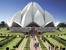 LOTUS TEMPLE GLOSSY POSTER PICTURE PHOTO new delhi india bahai flower hindu 1409