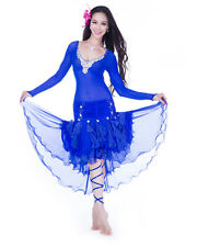 2013 Free Shipping Sexy Luxury Belly Dance Costume 3Pcs Top Skirt Leg Rope