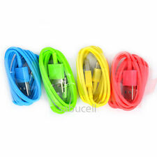 Colors CERTIFIED 8pin to USB Data Sync Charger Cable for Apple iPhone 5c 5s ios7