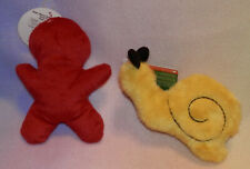 SUPER VALUE TOYS ** RED GINGER BREAD MAN ** YELLOW CATERPILLAR ** NEW ***