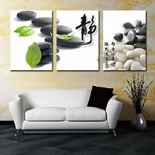 Zen Stone/Calm 3 panel mounted on fiberboard canvas wall art/surpassed stretched