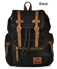 Vintage Retro Canvas Backpack Travel Sport Rucksack Satchel Hiking School Bag