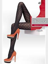 European Fashion SPOTTY Pattern 40D TIGHTS from Fiore Lotta Hosiery SIZE S M L