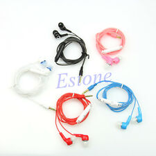 3.5mm Stereo In-ear Headphone Earphone Earbuds Headset With Volume Control Hot