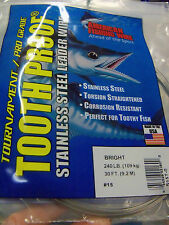 #8, 86 lb AFW TOOTH PROOF SINGLE STRAND WIRE-STAINLESS STEEL