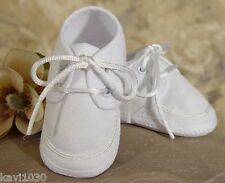 New White Baby Boys Oxford Christening Baptism Blessing Shoes Soft Sole 0-18M