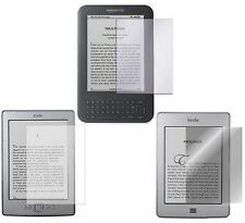 "KINDLE 4 KINDLE PAPERWHITE KINDLE TOUCH AND KINDLE KEYBOARD 6"" SCREEN PROTECTORS"