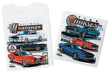 Mustang Racebred Tee Shirt Ford GT Cobra Classic Cas Vintage Focus Shelby