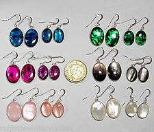 18x13mm 14x10mm ABALONE PAUA SHELL/MOTHER OF PEARL 925 STERLING SILVER EARRINGS