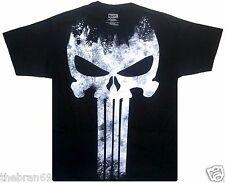 Marvel: 'The Punisher' Skull Retro-Vintage Style Distressed T-Shirt {Size S-2XL}