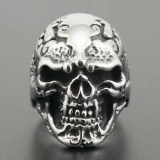 Cool Skull Scar Tattoo 316L Stainless Steel Mens Biker Ring 2J051XG