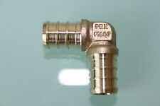 "New 3/8"" PEX Elbow (Lead Free) , Brass Crimp PEX Fitting"