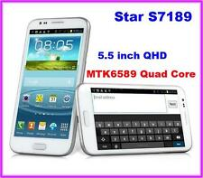 """Star S7189 Android 4.2 MTK6589 Quad qore 5.5"""" QHD Smartphone 3G GSM Cell Phone"""
