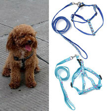 New Nylon Dog Harness with Leash leads for Small Medium Dog Cat Puppy 2 Size
