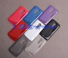 Hot New S-LINE TPU Gel Soft  Slim Skin Cover Case For AT&T & T-Mobile LG G2+Film