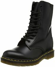 Men's Dr Martens 1490 10 Eye LaceUp Boot Black Smooth R11857001